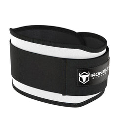 white 5 inches weight lifting belt for powerlifting