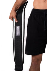 white weight lifting belt squat assist