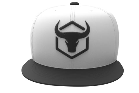 white-black cap with fitness logo