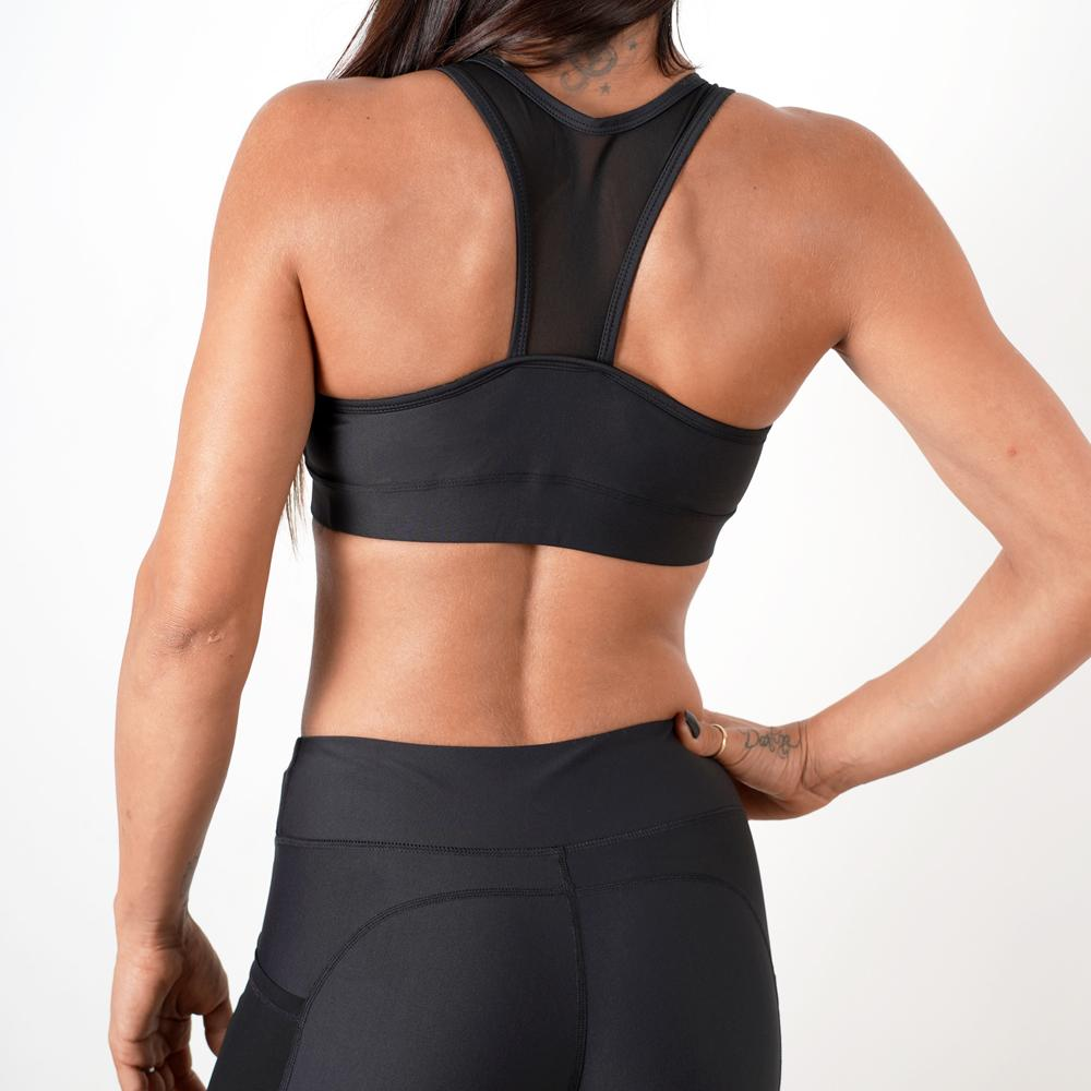 black women breathable quick dry mesh top sports bra