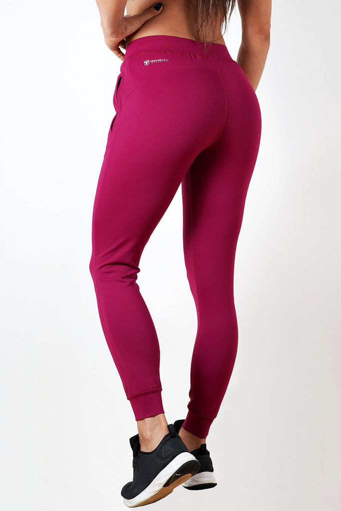 burgundy lightweight soft women's premium joggers