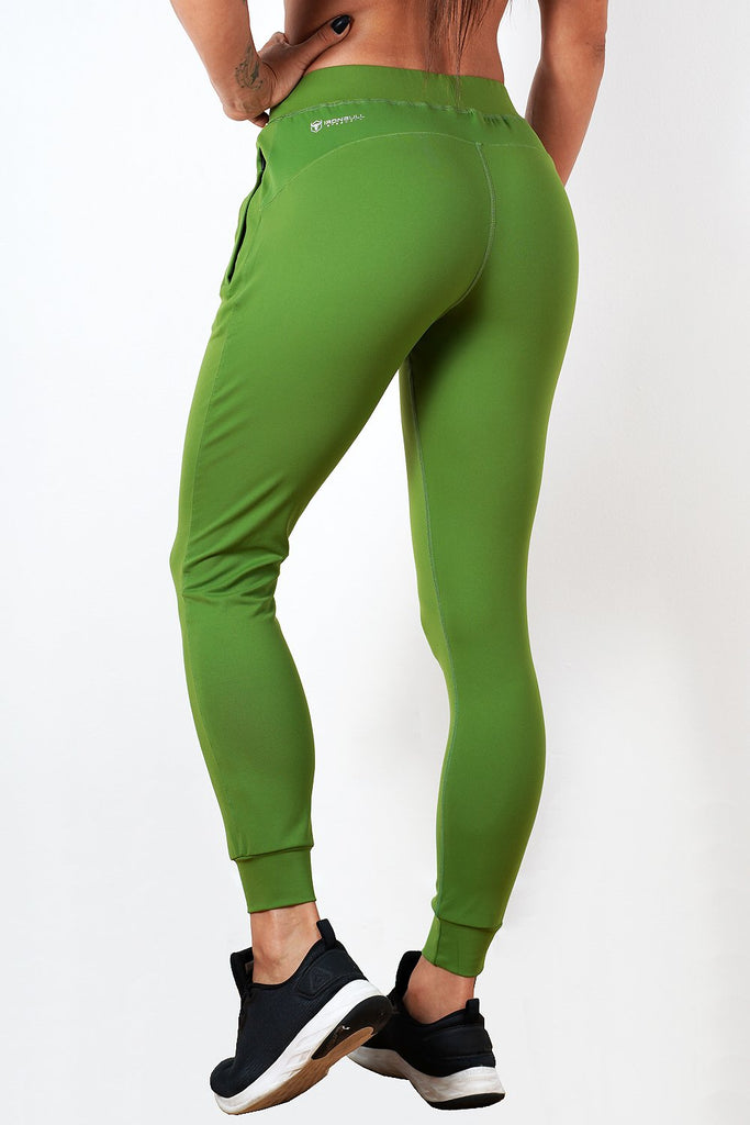 green lightweight soft women's premium joggers