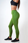 green high-rise waistband women's premium joggers