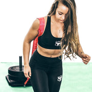 women sled workout iron bull strength