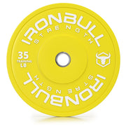 35-lb yellow bumper plate front view
