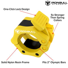 yellow nylon barbell collar features