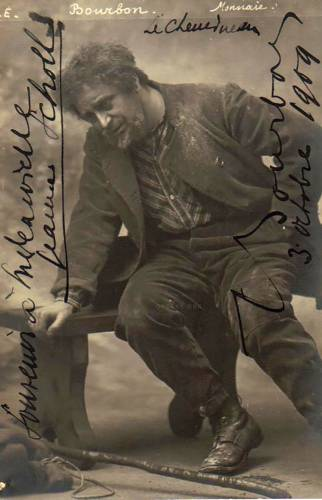 """ean Bourbon (1875-1948) in the title-role of """"The Chemineau"""" by Xavier Leroux"""