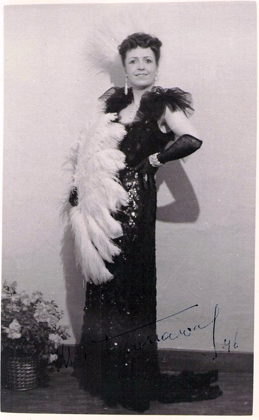 """Marie-Louise Floriaval (1910-1988) as Missia Palmieri (""""The Merry Widow"""")"""