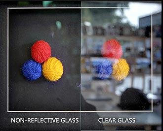 Non-reflective glass vs clear glass