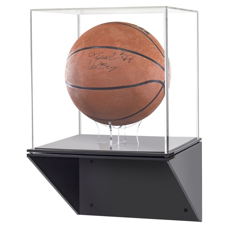 Acrylic box with a signed basketball