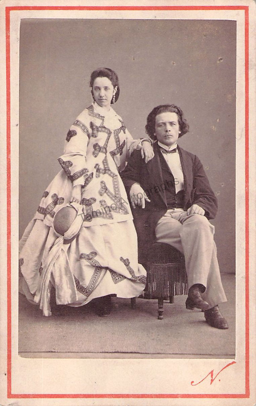 Anton Rubinstein and his wife