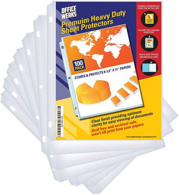 Archival safe sheet protectors