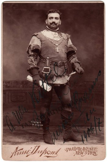 Enrico Caruso signed photo as Vasco da Gama in L Africaine