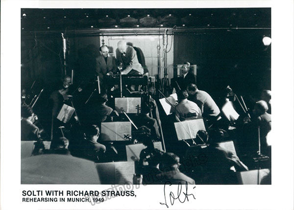 Georg Solti and Richard Strauss signed photo N4038_WM