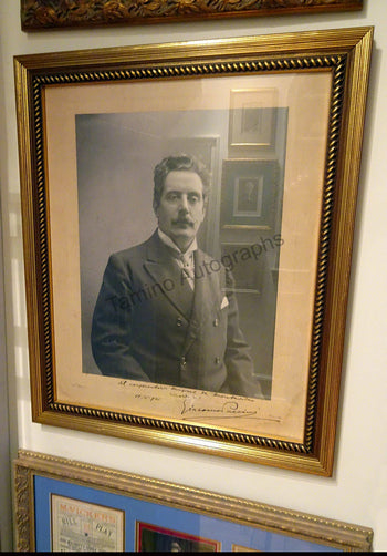 Giacomo Puccini - large signed photo