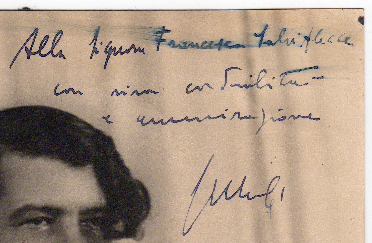 Giuseppe Mule composer - detail of autograph photo