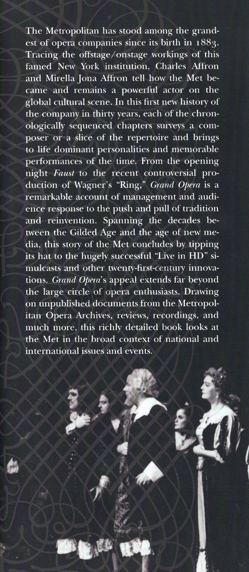 Grand Opera - The Story of the Met by Charles and Mirella Affron - tab
