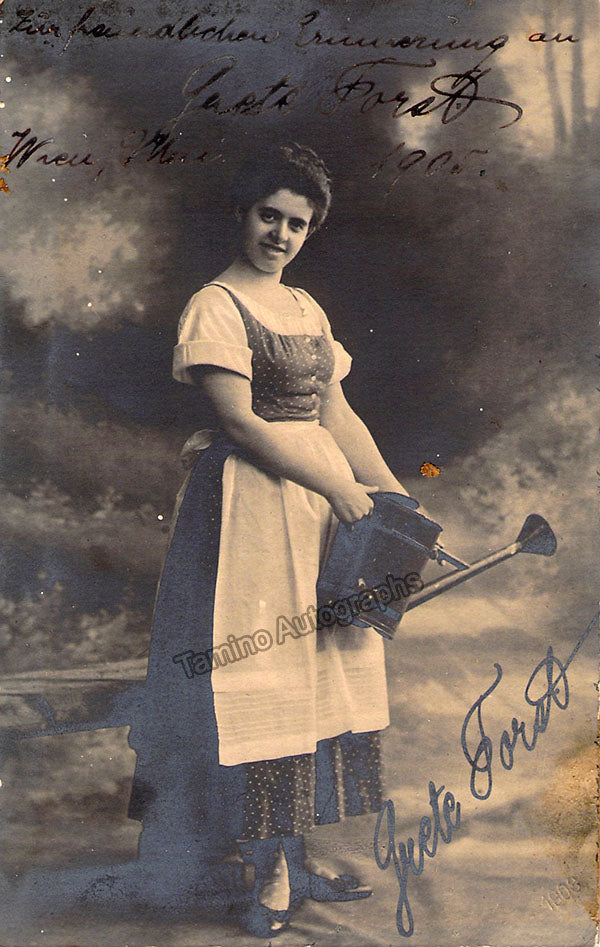 Grete Forst signed photo in role