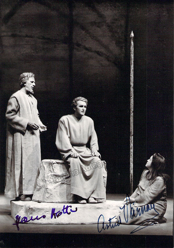 Hotter, Hans - Varnay, Astrid - Double Signed Photo in Parsifal at Bayreuth
