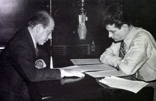 Kapell and Ormandy preparing a radio broadcast