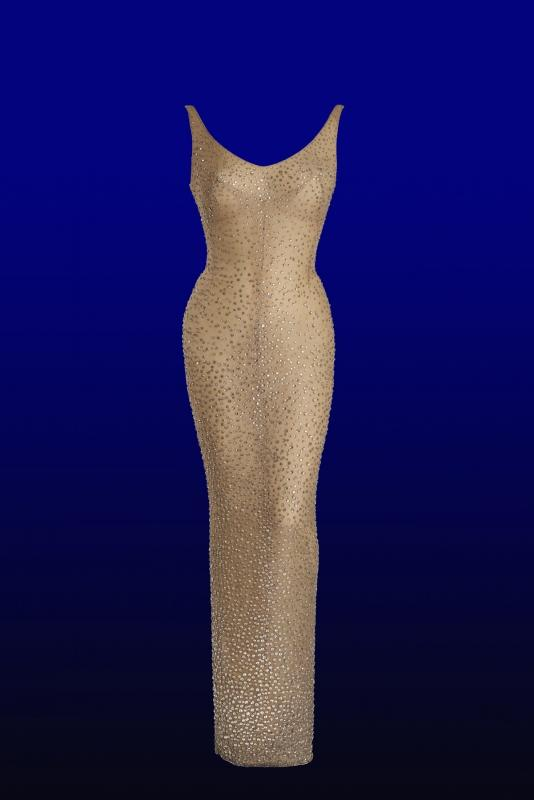 HISTORIC DRESS WORN BY MARILYN MONROE WHEN SHE SANG HAPPY BIRTHDAY TO JFK AT MADISON SQUARE GARDEN IN 1962