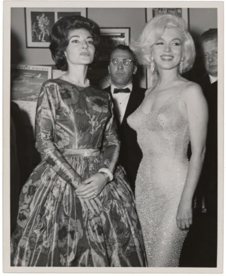 Marilyn Monroe and Maria Callas unsigned photo