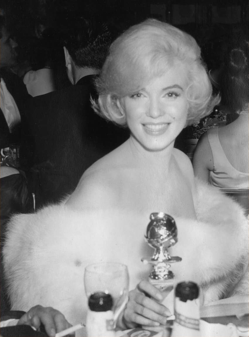 Marilyn Monroe and her first Golden Globe 1960