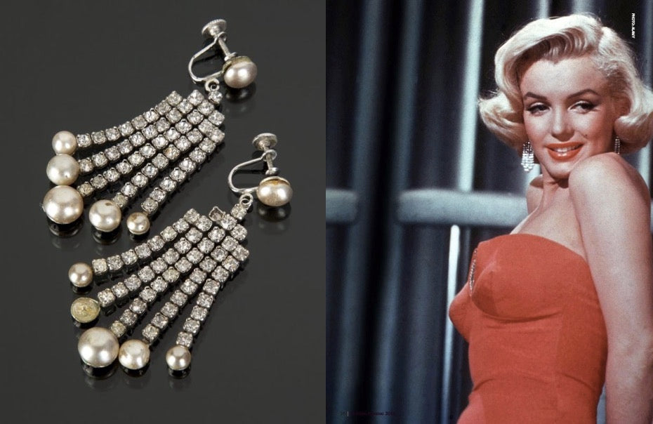 """The """"How to Marry a Millionaire"""" costume jewellery earrings"""