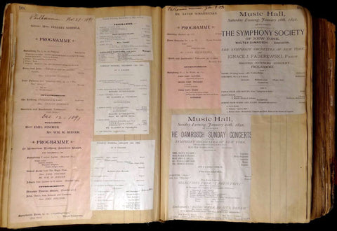 Opera and concert scrapbooks - a window to past performances