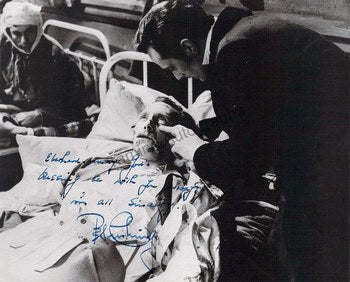 Peter Cushing signed photo in Frankensteins Fury