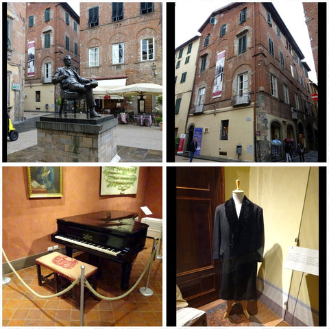 Puccini birth house in Lucca and Puccini House in Viareggio