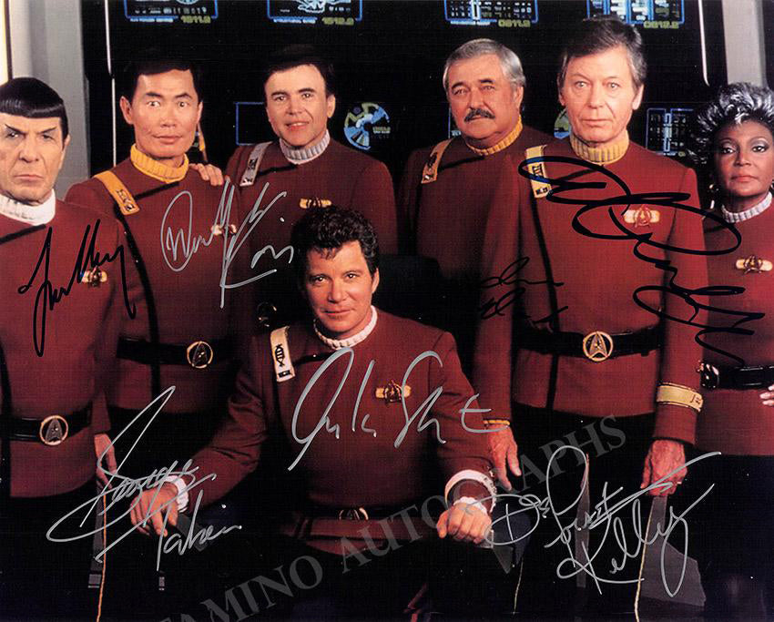 Star Trek photo signed by all the original crew