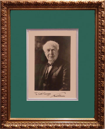 Thomas Alva Edison signed photo