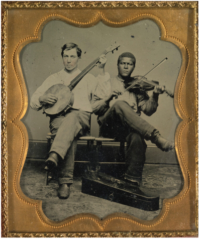 Tintype - Two musicians