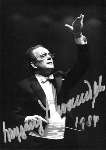 Wolfgang Sawallisch signed photo conducting
