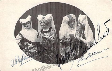 Richardson, Abby - Lyon, Ternha - Luart, Emma - Heilbronner, Rose - Quadruple Signed Photo