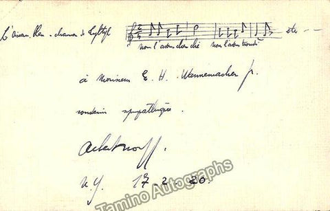 Wolff, Albert Louis - Autograph Music Quote Signed