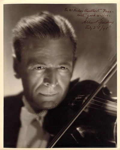 Spalding, Albert - Signed Photo in Performance 1948