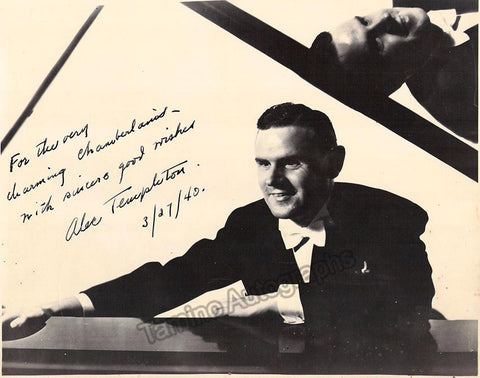 Templeton, Alec - Signed Photo 1940