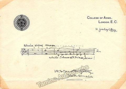 Scott-Gatty, Alfred Scott - Autograph Music Quote Signed 1899