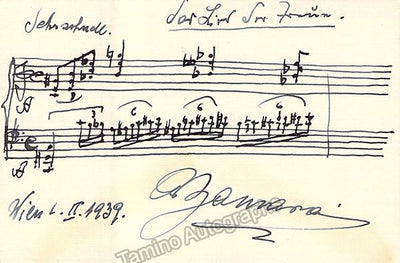 Zamara, Alfred - Autograph Music Quote Signed 1939