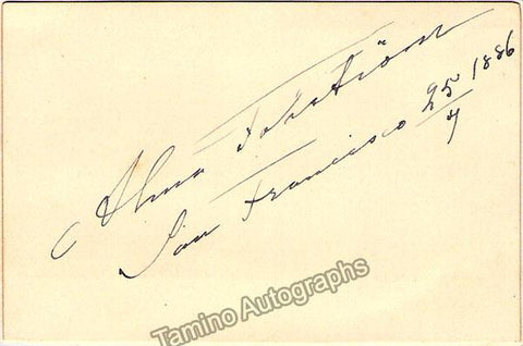 Fohstrom, Alma - Signed Card 1886