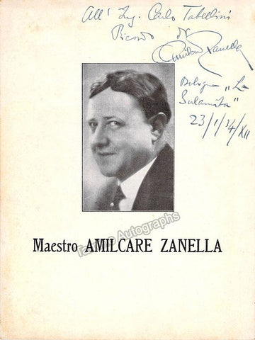 Zanella, Amilcare - Signed Photo 1934