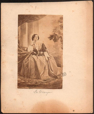 Lagrange, Anne Caroline de - CDV as herself