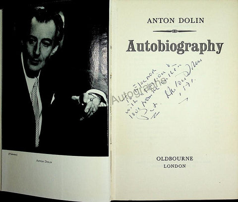 "Dolin, Anton - Signed Book ""Autobiography"""