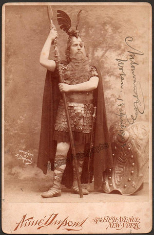 Van Rooy, Anton - Signed Cabinet Photo as Wotan 1903