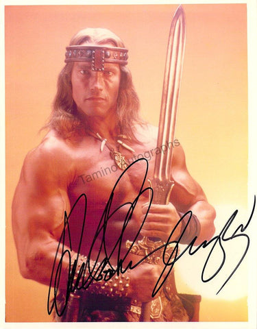 "Schwarzenegger, Arnold - Signed Photo in ""Conan The Barbarian"""