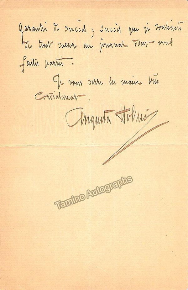 Holmes, Augusta - Autograph Letter Signed 1894