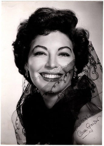 Gardner, Ava - Large Signed Photo