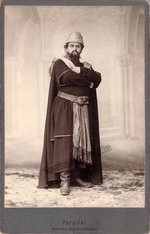 Lejdstrom, Carl - Cabinet Photo in Parsifal Bayreuth 1904